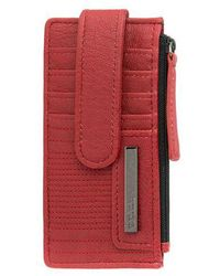Kenneth Cole Reaction - Snap Tab Card Holder - Lyst