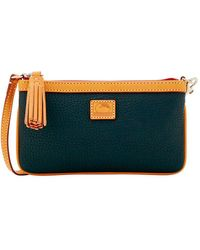 Dooney & Bourke - Large Slim Leather Wristlet - Lyst
