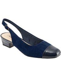 Trotters - Dea Suede Slingback Court Shoes - Lyst