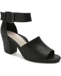 Tahari - Pennie Shimmer Suede Sandals - Lyst