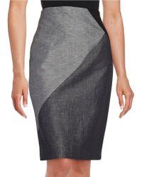 Ellen Tracy - Colorblocked Pencil Skirt - Lyst