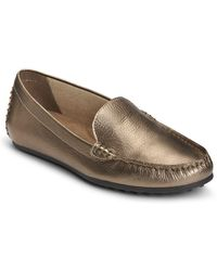 0cdce504189 Eileen Fisher Dell Leather Platform Loafers - Lyst