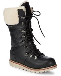 Royal Canadian - Louise Faux Fur-trimmed Leather Winter Boots - Lyst
