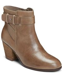 Aerosoles - Inevitable Leather Zipped Ankle Boots - Lyst