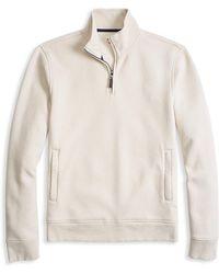Brooks Brothers Red Fleece - Pique Fleece Half-zip Sweater - Lyst