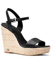MICHAEL Michael Kors - Jill Leather Wedge Sandals - Lyst