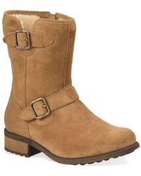 UGG - Chaney Suede & Pure Moto Boots - Lyst