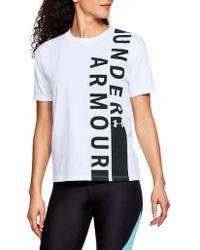 Under Armour - Girlfriend Wordmark Crewneck Tee - Lyst