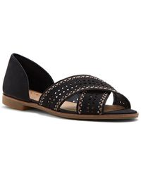 Lucky Brand - Gallah Leather Slide Sandals - Lyst