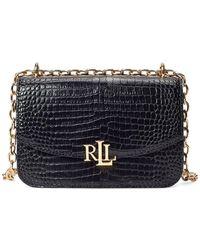 Lauren by Ralph Lauren Embossed Leather Crossbody Bag