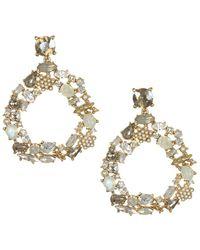 Badgley Mischka - Circle Drop Earrings - Lyst