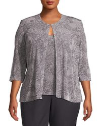 Alex Evenings - Plus Two-piece Printed Camisole And Jacket Twinset - Lyst
