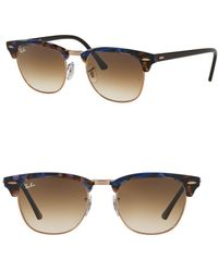 Ray-Ban - 49mm Clubmaster Square Sunglasses - Lyst