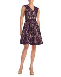 Eliza J - Floral Lace Fit-and-flare Dress - Lyst