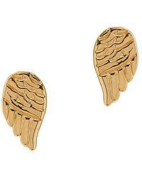 Lord + Taylor - 14k Yellow Gold Angel Wings Stud Earrings - Lyst