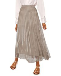 Mango - Pleated Midi Skirt - Lyst