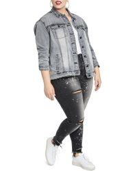 RACHEL Rachel Roy - Plus Oversized Denim Jacket - Lyst