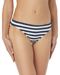 MICHAEL Michael Kors - Classic Striped Bikini Bottom - Lyst