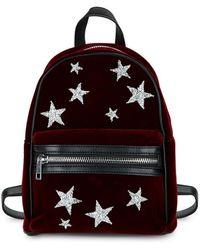 Lord & Taylor - Star Rhinestone Velvet Backpack - Lyst