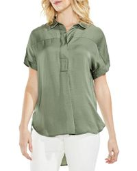 Vince Camuto - Hammered Satin Blouse - Lyst