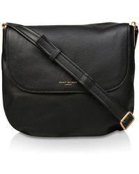 Kurt Geiger - Large Emma Leather Saddle Bag - Lyst