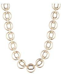Anne Klein Goldtone Circle Link Necklace
