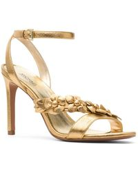 MICHAEL Michael Kors - Tricia Metallic Leather Ankle-strap Sandals - Lyst