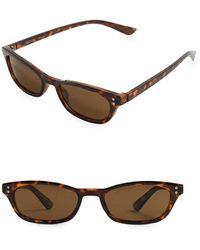 Mango - Tortoise Rectangle Sunglasses - Lyst