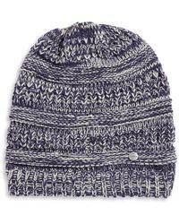 Modena | Ribbed Marled Knit Beanie | Lyst