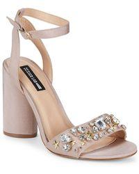 88f71c730af Lord   Taylor - Chet Embellished Ankle-strap Sandals - Lyst