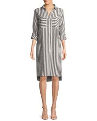 Jones New York - Striped Long Tunic - Lyst