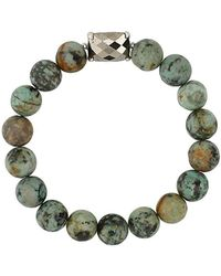 Chan Luu - Sterling Silver Beaded Stretch Bracelet - Lyst
