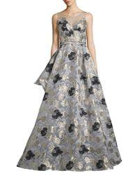 Nicole Bakti | Floral Ball Gown | Lyst