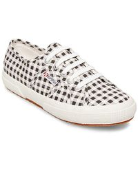 Superga - Gingham Lace-up Sneakers - Lyst