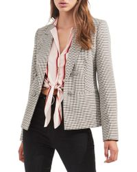 Miss Selfridge - Checkered Button-front Jacket - Lyst