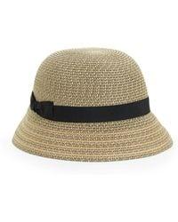 3f15902cdde Betmar Cotton Cloche Knot Hat in Natural - Lyst