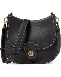Lauren by Ralph Lauren - Large Convertible Leather Crossbody Bag - Lyst