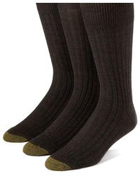 Goldtoe - 3-pack Windsor Wool-blend Dress Socks - Lyst