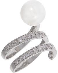 Michela - Pearl And Rhinestone Ring - Lyst