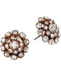 Badgley Mischka - Floral Stud Earrings - Lyst