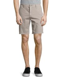 7 For All Mankind - Stretch-cotton Flat Front Shorts - Lyst