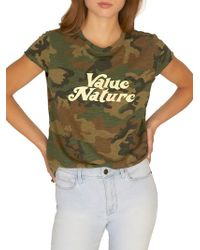Sanctuary Value Nature Camouflage Cotton Blend Tee - Green