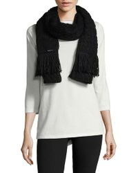 MICHAEL Michael Kors - Cable Knit Scarf - Lyst
