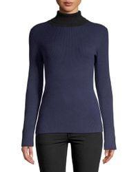 Calvin Klein - Ribbed Turtleneck Pullover - Lyst