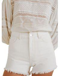 Mango - Mom Mid-rise Denim Shorts - Lyst