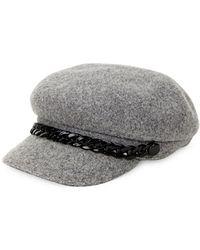 e5c9adb8 Steve Madden - Chained Wool Baker Boy Hat - Lyst