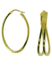 Lord & Taylor - 14k Yellow Gold Polished Hoops - Lyst