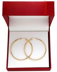 Lord & Taylor - 14k Yellow Gold Tube Hoop Earrings - Lyst