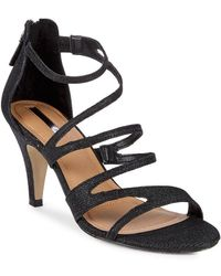 Tahari - Ninja Shimmer Fabric Sandals - Lyst