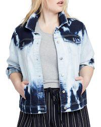 RACHEL Rachel Roy - Plus Cloud Wash Denim Jacket - Lyst
